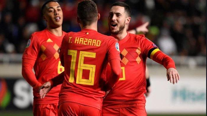 LIVE MOLA TV! Link Live Streaming Belgia vs Rusia di Kualifikasi Euro 2020 di TV Online, Eden Hazard