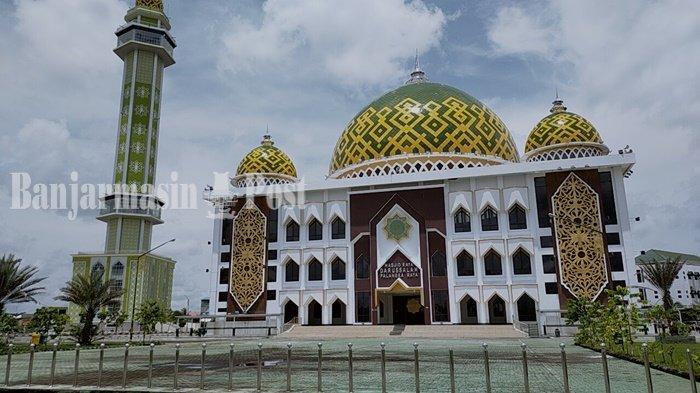 Masjid Raya Darussalam Palangkaraya Konsisten Menerapkan Protokol Kesehatan