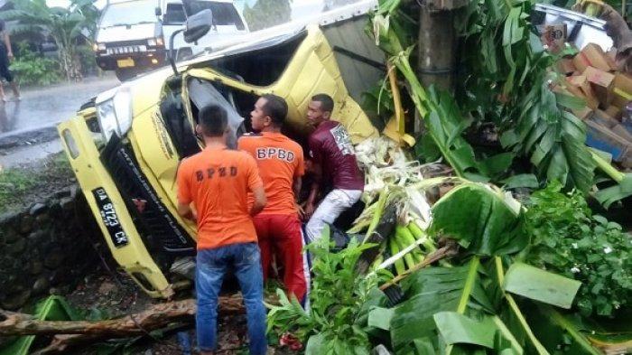 Kecelakaan di Kapuh HST, Ternyata Korban Meninggal Penumpang Truk