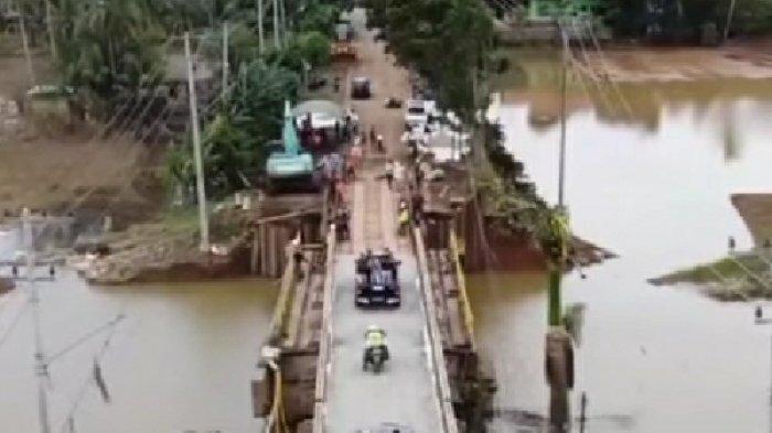 Jembatan Pabahanan Berfungsi Kembali, Begini Ungkapan Bupati dan Warga Tala