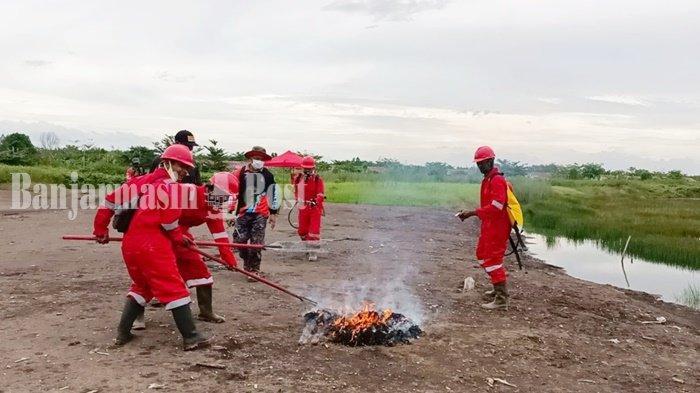 Personel BPBD Kabupaten Tapin Beri Pelatihan Penanggulangan Karhutla