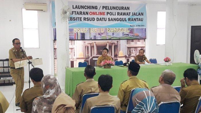 Bupati Gusti Syahyar Kagumi Layanan Online yang Diluncurkan  RS Datu Sanggul