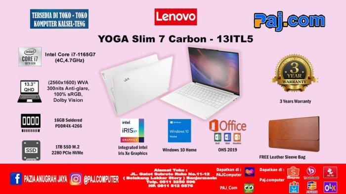 Lenovo Yoga Slim 7, Laptop Ramping dengan Prosesor Intel Terbaru!
