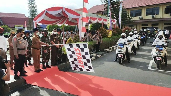 Polda Kalsel Gelar Pasukan Operasi Lilin Intan 2020 , Sebanyak 1.265 Personel Dikerahkan Pengamanan