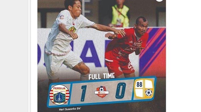 Cuplikan Gol & Hasil Akhir Persija Jakarta Vs Barito Putera di Liga 1 2019, Skor Akhir 1-0