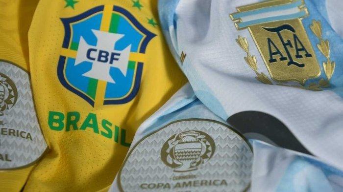 Line-up Brazil vs Argentina & Link Streaming Indosiar Live Final Copa America 2021, Neymar vs Messi