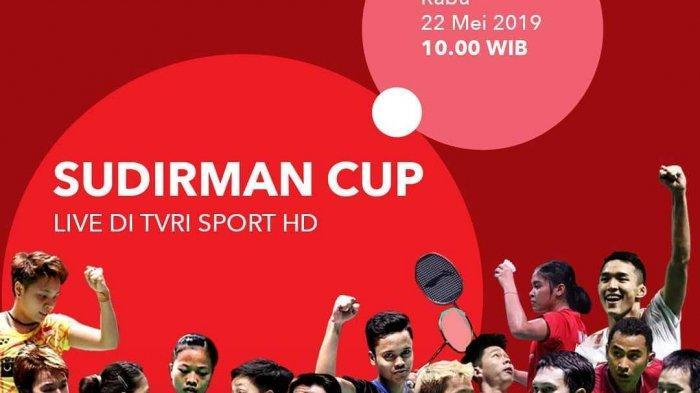 LIVE TVRI! Link Nonton TV Online Semifinal Piala Sudirman 2021 Hari Ini, Malaysia vs Jepang
