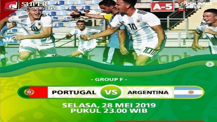 LIVE Supersoccer TV! Live Streaming Portugal vs Argentina Piala Dunia U-20, Negara Ronaldo & Messi