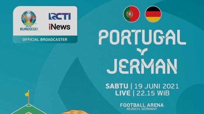 Live RCTI! Prediksi & Link Streaming Portugal vs Jerman Euro 2021 di TV Online Mola Mulai 23.00 WIB