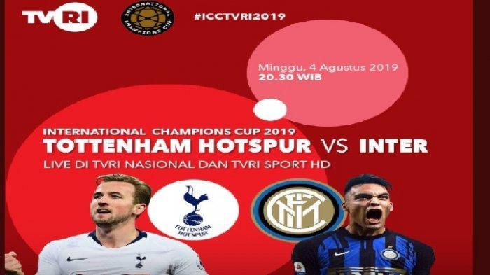 Hasil Tottenham Hotspur vs Inter Milan di ICC 2019 Live TVRI & Mola TV, Skor 1-1 di Babak Pertama