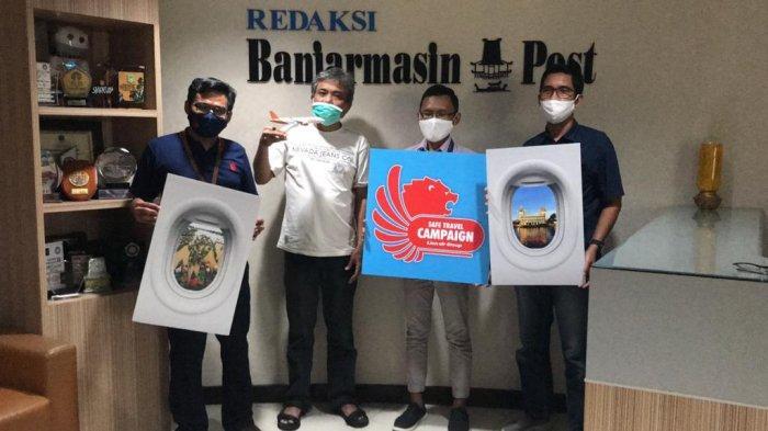 Kampanyekan Keselamatan Perjalanan Selama Pandemi, Lion Air Silaturahmi ke Banjarmasin Post