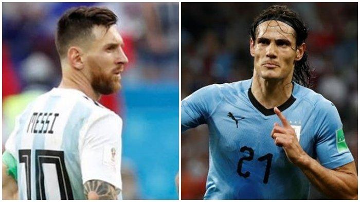 Laga Argentia vs Uruguay Berakhir Imbang, Lionel Messi Ladeni Tantangan Berantam Edinson Cavani