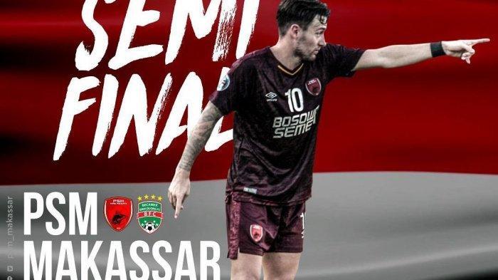 LIVE RCTI! Link Live Streaming PSM Makassar vs Becamex Binh Duong di Fox Sports 2 Piala AFC 2019