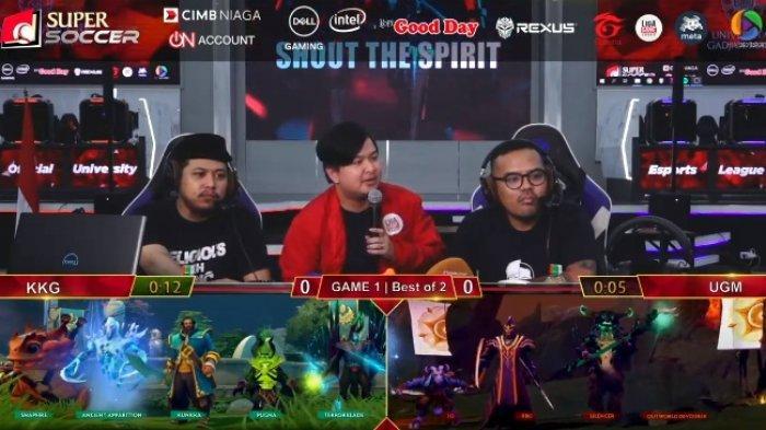LANGSUNG! Live Streaming Dota 2 UGM vs KKG di Liga Game Indonesia, Ada Coki Pardede & Tretan Muslim
