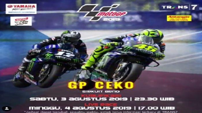 Jadwal Live Kualifikasi MotoGP Ceko 2019 Sirkuit Brno, Siaran Tunda di Trans 7 Malam ini