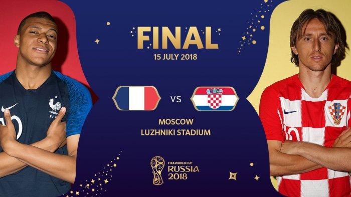 Susunan Pemain Perancis Vs Kroasia Final Piala Dunia, Adu Tajam Giroud dan Mandzukic