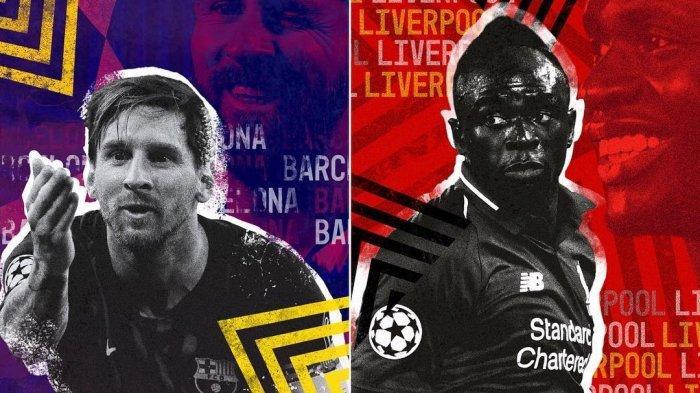 LIVE SCTV! Jadwal Liga Champions 16 Besar, Barcelona vs PSG, Liverpool & Real Madrid Main