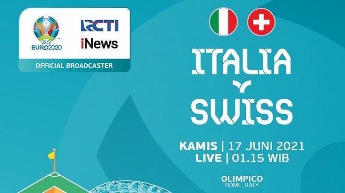 Link Nonton Live Streaming Italia vs Swiss Euro 2021 d RCTI & TV Online Mola TV Mulai Jam 02.00 WIB