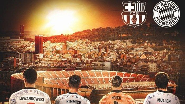 Live SCTV! Link Nonton Streaming Barcelona vs Munchen di TV Online UCL Vidio Mulai Jam 02.00 WIB