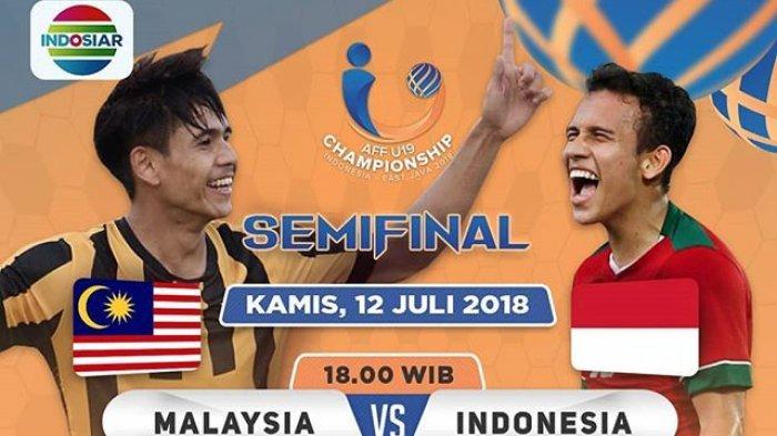 Live Streaming Indosiar! Susunan Pemain Timnas Indonesia vs Malaysia Semifinal Piala AFF U-19 2018