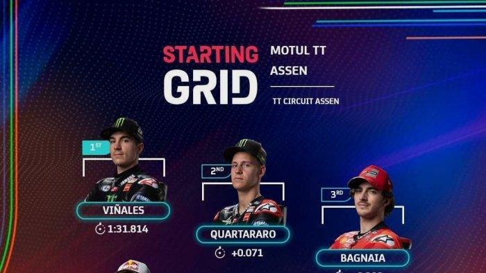 Jadwal Siaran TV MotoGP Belanda 2021 Live Streaming Trans7 Hari Ini, Simak Urutan Starting Grid-nya