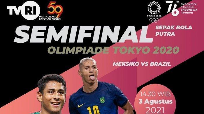 Live TVRI! Preview & Link Streaming Meksiko vs Brazil TV ...