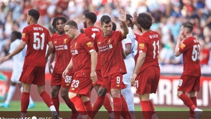 Hempaskan Olympique Lyon, Liverpool Tutup Pramusim 2019 dengan Kemenangan di Swiss
