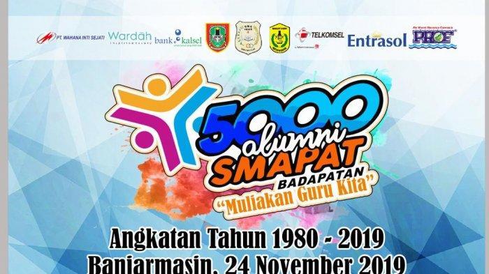 Alumni 1980-2018 Ramaikan Jalan Santai Reuni Smapat Banjarmasin, dari Luar Pulau pun Berdatangan