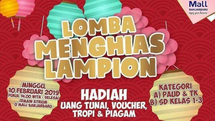 Lomba Menghias Lampion di Q Mall, Jangan Lupa Kenakan Baju Merah