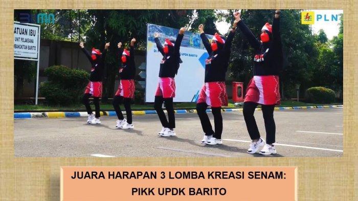 PLN UPDK Barito yang diwakili PIKK UPDK Barito  mengikuti perlombaan kreasi Senam New Normal yang diadakan oleh PIKK UP2B Kalimantan dan UPT Kalselteng.