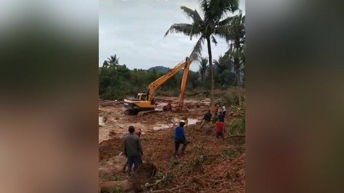 Banjir di Kalsel 2021, Anak Tertimbun Longsoran di Guntungbesar Kabupaten Tala Ditemukan