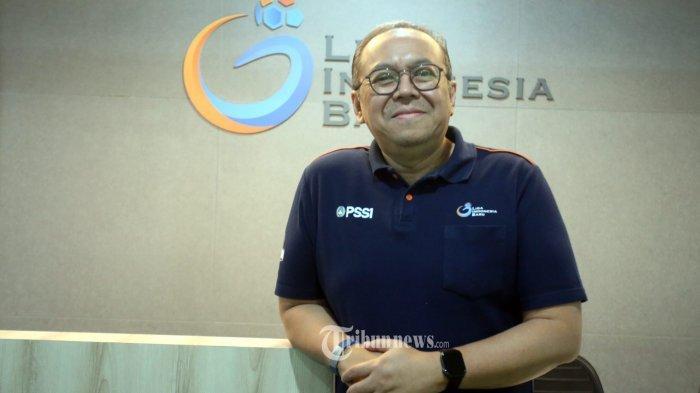 Presiden Direktur PT Liga Indonesia Baru, Akhmad Lukita, saat ditemui tribunnetwork di Kantor LIB Jalan Jendral Sudirman, Jakarta Selatan, Rabu (4/11/2020). Warta Kota/Angga Bhagya Nugraha