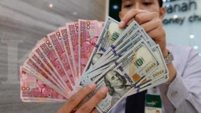 LUSTRASI-Mata Uang Rupiah dan Dolar Amerika.Sempat Melemah, Akhirnya Rupiah Ditutup Menguat Rp 16.430 Per Dolar AS Hari Ini, Jumat 3 April 2020.