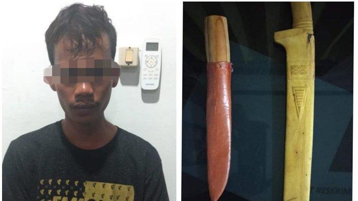 Ngamuk dan Menenteng Parang di Pasar Keramat, Pemuda Ini Diamankan Polres HST