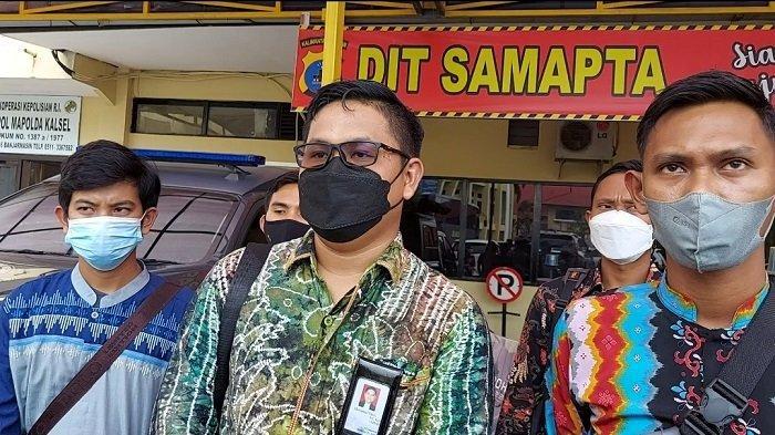 Penuhi Panggilan Polda Kalsel, Kader HMI Cabang HST Didampingi Sederet Kuasa Hukum