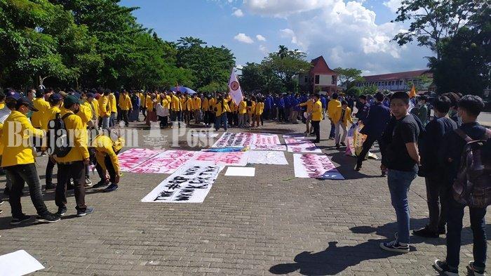 Aksi Save KPK, Mahasiswa BEM SeKA Mulai Padati Lapangan Taman Kamboja Banjarmasin