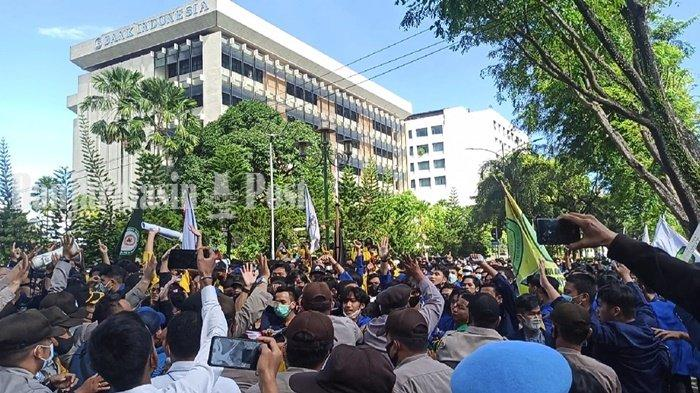 Aksi Mahasiswa BEM SEKA Save KPK, Kapolresta Banjarmasin Sampaikan Imbauan