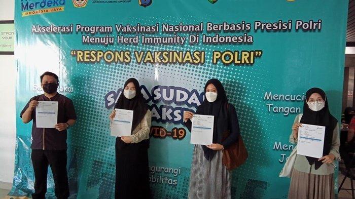 Program Vaksinasi Covid-19 Polda Kalsel Sasar Mahasiswa di Banjarmasin