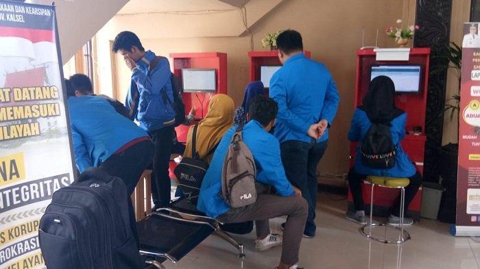 Mahasiswa Politeknik Hasnur Kunjungi Perpustakaan Palnam, Ini Tujuannya