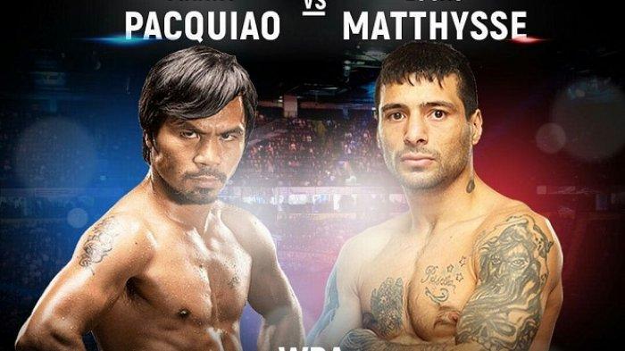 Link Live Streaming Tinju Manny Pacquiao vs Lucas Matthysse Gelar WBA via Streaming Vidio.com