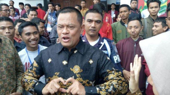 Mantan Panglima TNI Jenderal Gatot Nurmantyo saat menghadiri Muktamar XVIII Ikatan Mahasiswa Muhammadiyah (IMM) di Univeritas Muhammadiyah Malang (UMM), Jumat (3/8/2018).