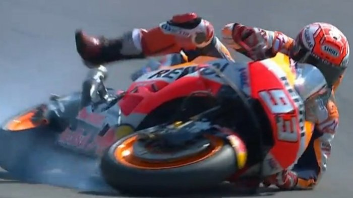 Hasil Kualifikasi MotoGP Malaysia 2018: Raih Pole Position Marc Marquez Sempat Alami Crash