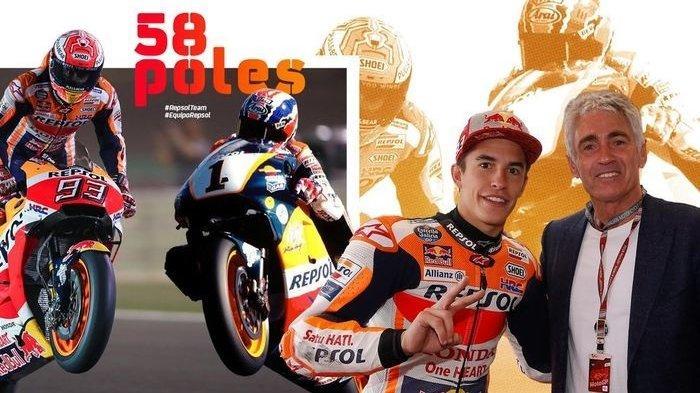 Jadi yang Tercepat di MotoGP Ceko , Marc Marquez Samakan Rekor Mick Doohan Raih Pole Position