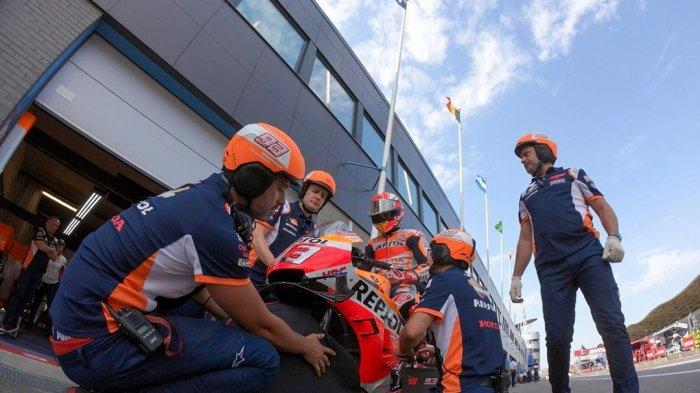 Hasil Latihan Bebas (FP2) MotoGP Jerman 2019, Marc Marquez Tercepat, Valentino Rossi Tercecer