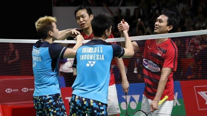 Line Up & Link Streaming Thomas Cup 2021 Hari Ini Live TVRI, Marcus/Kevin Digantikan Fajar/Rian
