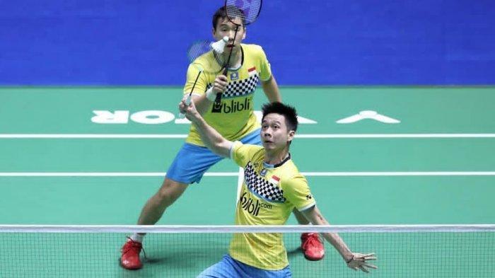 BERLANGSUNG Live TVRI! Live Streaming Fuzhou China Open 2019, Link UseeTV & BWF, Marcus/Kevin Lolos