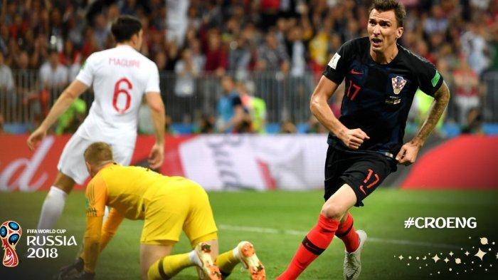 Hasil Kroasia vs Inggris : Gol Mario Mandzukic Buat Kroasia Ungguli Inggris