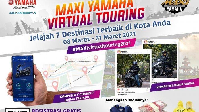 Maxi Yamaha Virtual Touring 2021, Sensasi Touring Destinasi Menarik dengan Aplikasi Y-Connect
