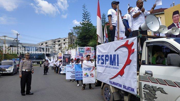 Buruh Gelar Aksi May Day ke Jalanan, Satlantas Polresta Banjarmasin Amankan Lokasi Ini