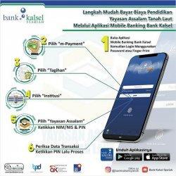 Bayar Biaya Pendidikan di Rumah Saja Via Mobile Banking Bank Kalsel, Begini Caranya